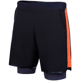 Zone3 Rx3 Compression Short 2 en 1 Homme, black orange